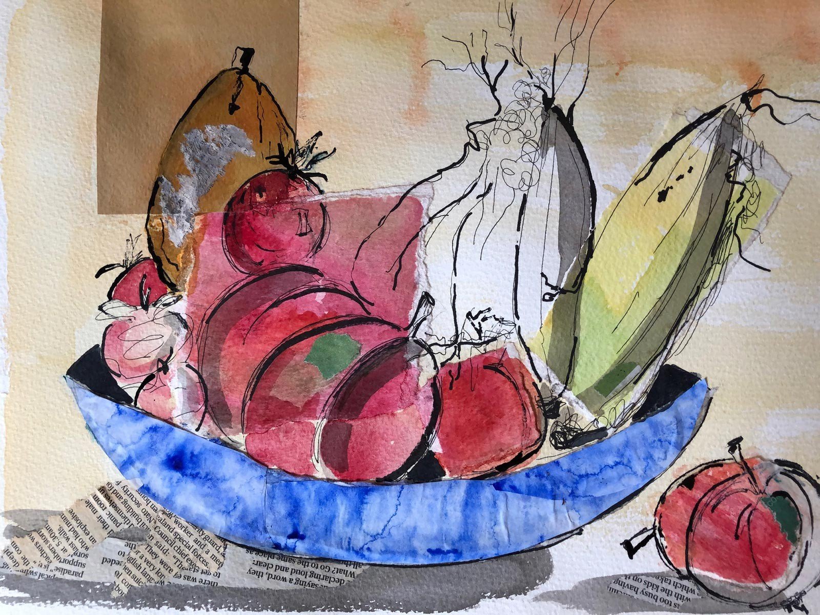 Fruit collage by Moira Fraser-Steele
