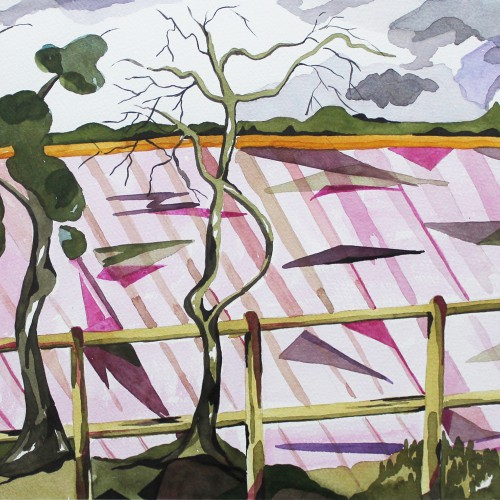 Ploughed Field watercolour
